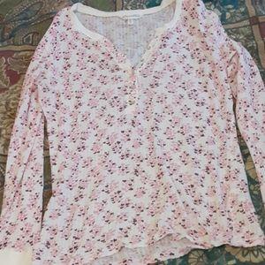 Henley thermal shirt